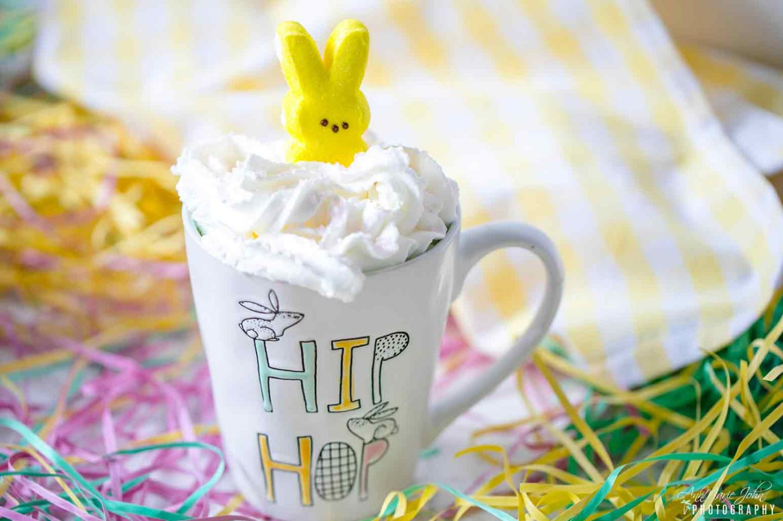 Easter Bunny Hot Caramel Chocolate Drink