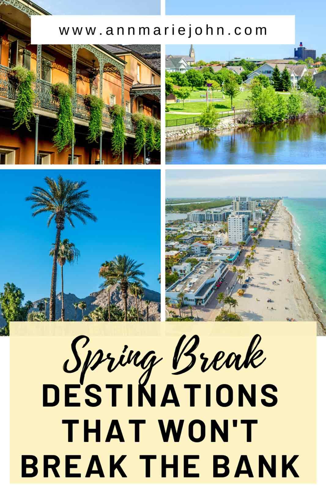 Spring Break Destinations That Won't Break the Bank