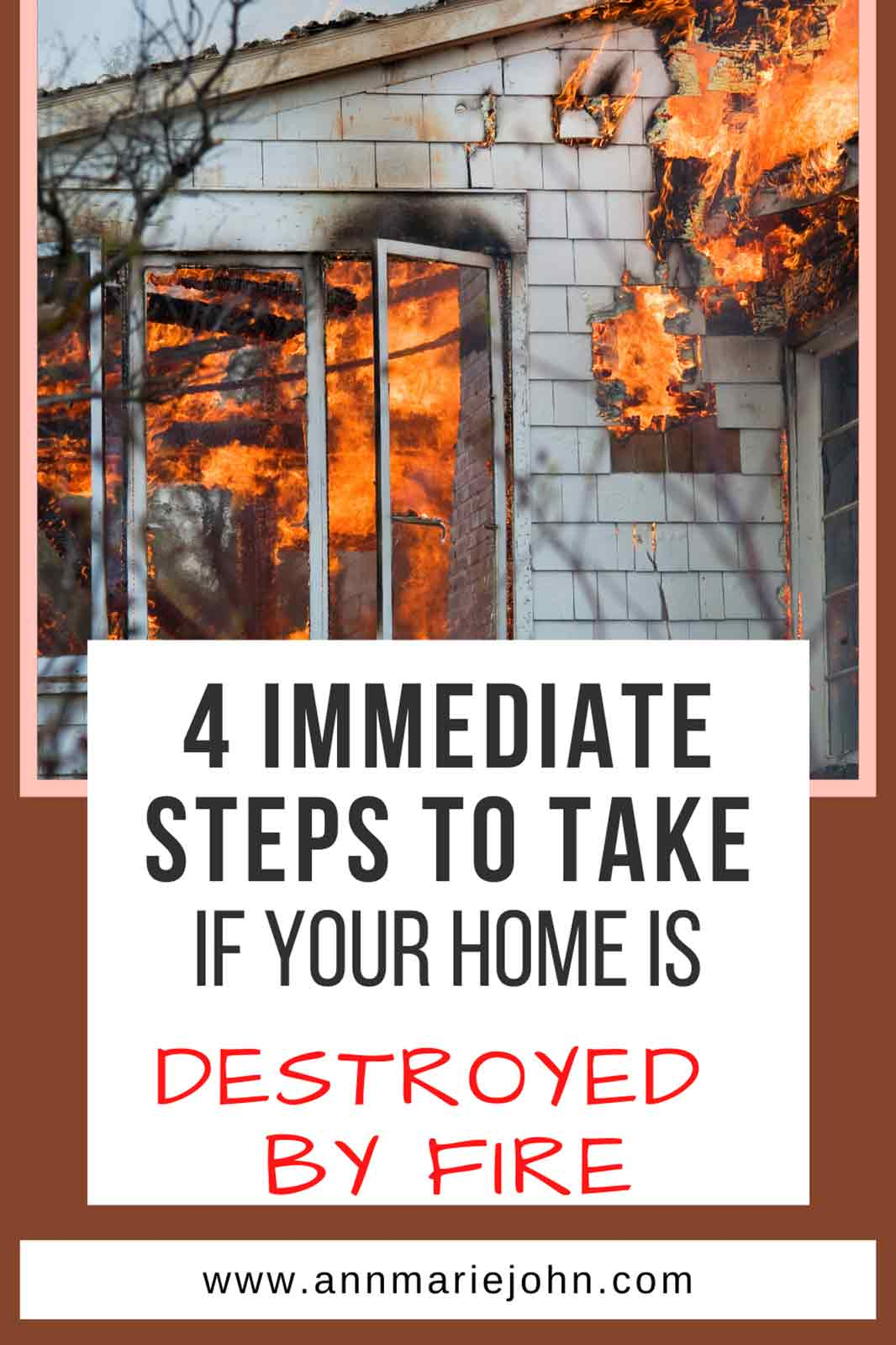 steps to take after a house fire