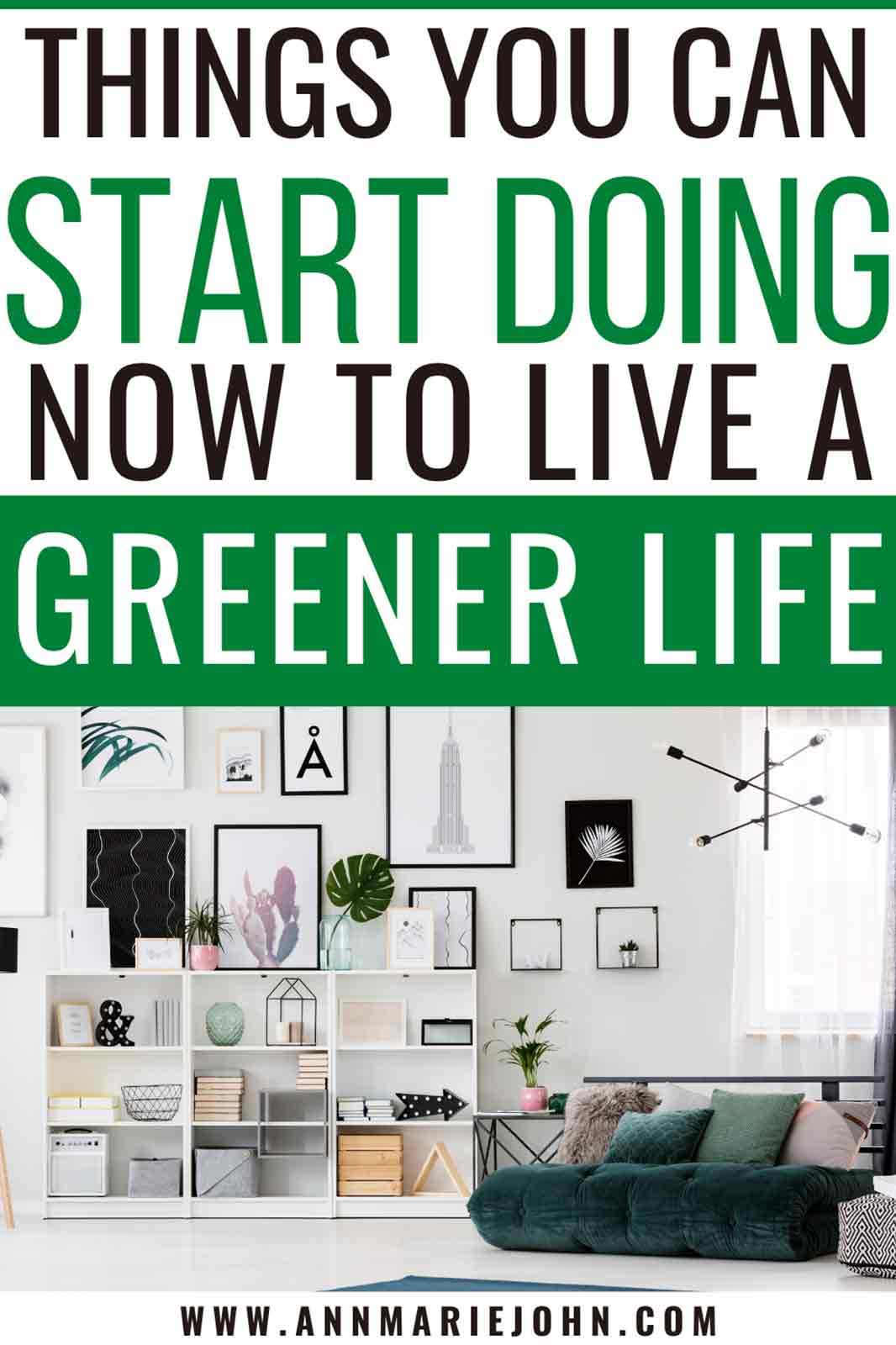how to live a greener life