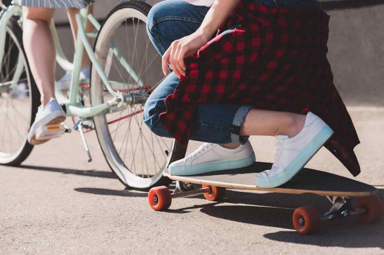 Bike and Skateboard